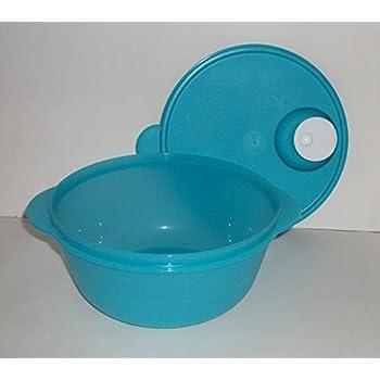 Tupperware CrystalWave Microwave Bowl 6 1/4 Cup in Aqua Blue