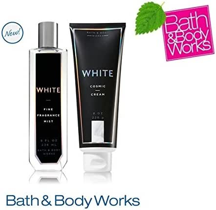 Bath & Body Works WHITE COSMIC Set - Body cream and Fine Fragrance Mist Full Size
