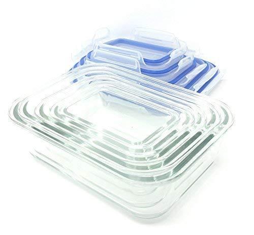 Congelador a Horno Seguro 10 Piezas Cristal Recipiente Almacenaje ...