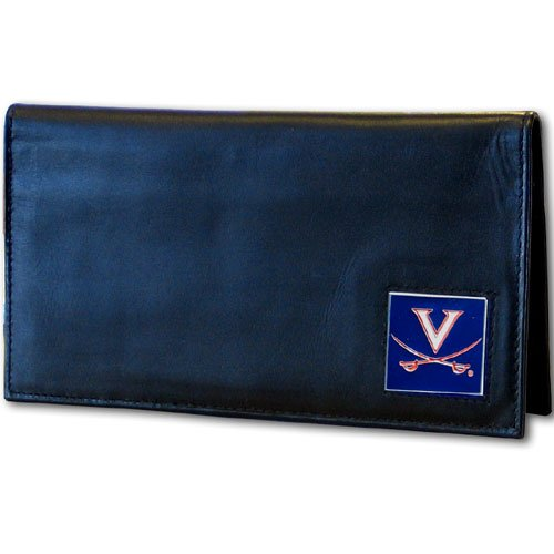 Siskiyou Virginia Cavaliers Leather Checkbook (Virginia Leather Checkbook Cover)