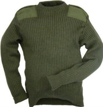 /Verde Oliva British Army Surplus Genuine del ej/ército brit/ánico Utilizado Sudadera de Lana Pully/ Grade 1