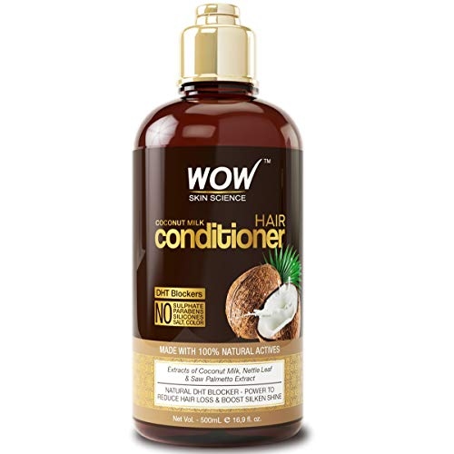 WOW Coconut Milk Hair Conditioner - Restore Dry, Frizzy, Tangled Hair to Stronger, Full, Shiny Hair - Stimulate Hair Growth - Paraben, Salt, Sulfate Free - All Hair Types, Adults & Children - 500 mL (Best Products For Shiny Glossy Hair)
