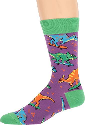 Socksmith Men's Skate Or Dinosaur Purple 10-13 (Men's Shoe Sizes 7-12.5) ()