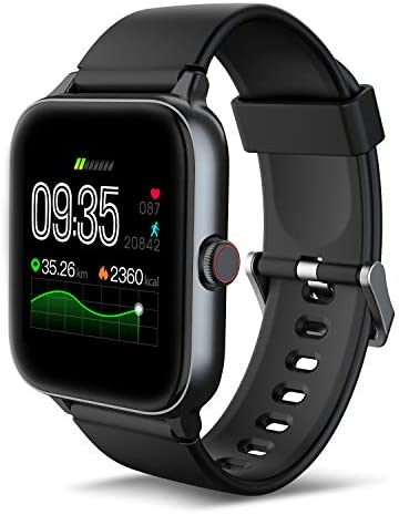 IOWODO R3Pro Smart Watches for Men Fitness Tracker Watch - Sport Watch 1.54 HD Screen Activity Tracker Step Counter for Walking Mens Sport Watch 5ATM Waterproof Smart Watch for Android Phones Black 1