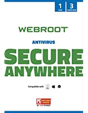 $29 » Webroot SecureAnywhere Antivirus Software 2021 for 3 Devices - Includes Identity Protection & Secure Web Browsing | 1 Year [PC/Mac Keycard]