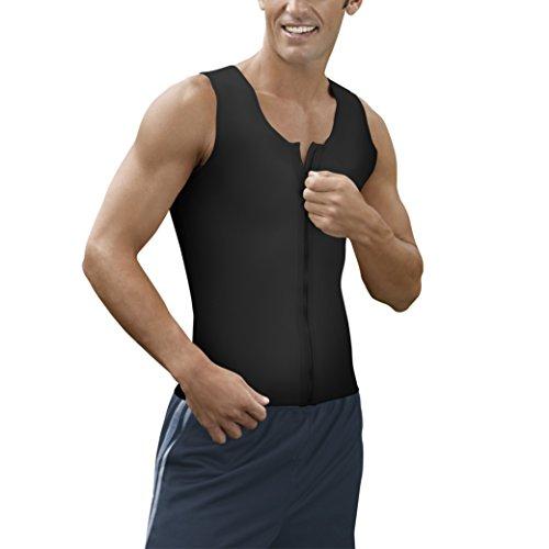 (Kepawel Men's Firm Compression Vest Core 2, Black, X-Large)