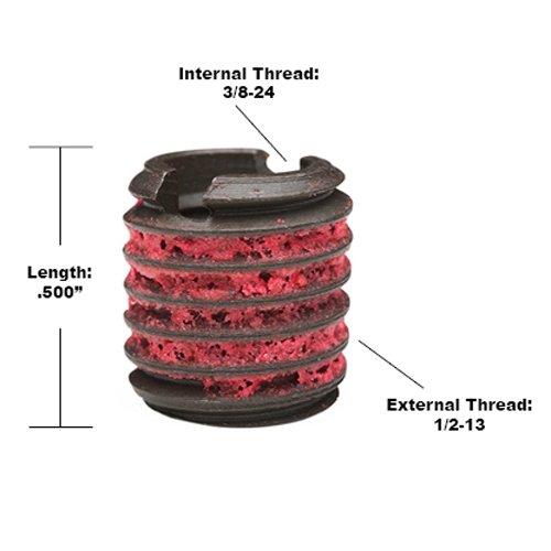 E-Z LOK EZ-310-624 Threaded Inserts for Metal 3//8-24 Installation Kit Steel Black Oxide