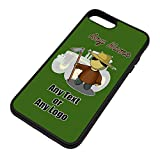 UNIGIFT Personalised Gift - Farmer Male iPhone 8/7 plus Case (Occupation Design Colour) Any Name Message Unique - Apple TPU Cover 8+ 7+ + Job Fruit Field Harvester Vegetable Grazier Tractor Orchard