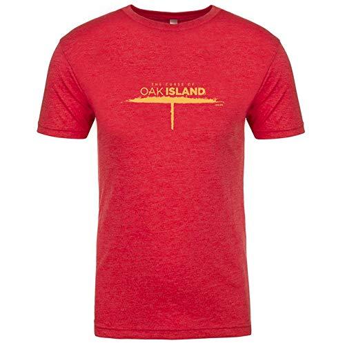 - The Curse of Oak Island Tri-Blend T-Shirt Red X-Large