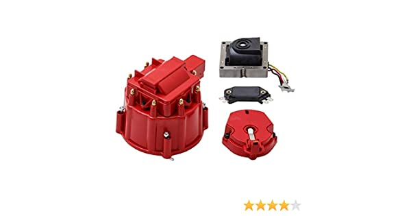 Rotor A-Team Performance CR8R HEI OEM Distributor Cap and Coil Cover Kit Red