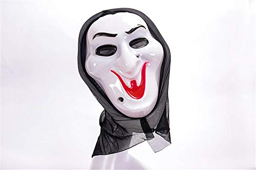 One More Halloween Smile Ghost Full Face Scary Masquerade Party Mask Costume]()