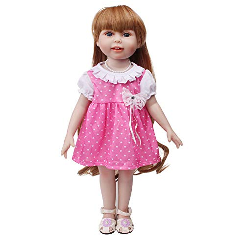 Transer- Lovely Dresses for American Girl Doll Clothes Outfits Costumes Accessories - Cute Dress for 18 Inch Dolls (Love Heart with Bowknot) -