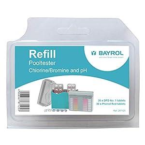 Bayrol Pool-Tester 287125 Pasticche per la misurazione del PH e del cloro nelle piscine, confezione di riserva 2 x 30… 41PGV6gqkVL. SS300