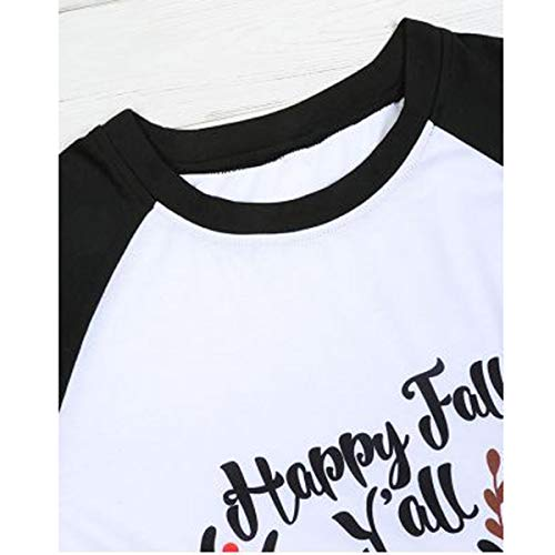 Black Christmas Women T Long Fall Happy Sleeve Tee shirt Raglan Elk Baseball Y'all nW7W8YE