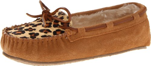 Mocassino Da Donna Minnetonka In Pelle Di Leopardo Cally