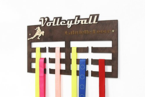 All sports Medal Display, Volleyball, Medal Hanger, Volleyball Gifts, Medal Display, Medal Rack, Medal Holder, Gift for Boyfriend, Personalized Medal Holder