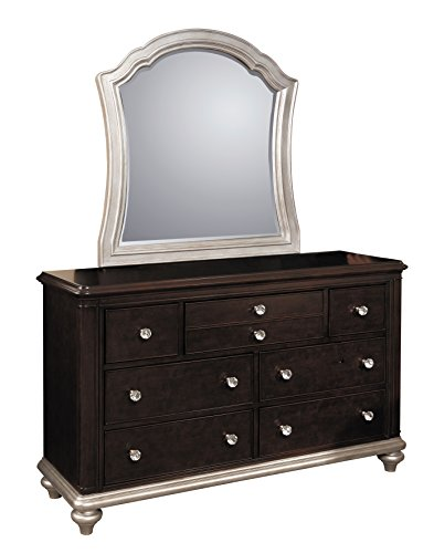 Pulaski Glamour Youth Drawer Dresser with Dark Cherry Finish Without Mirror