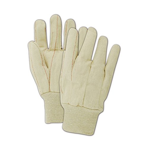 Magid Glove & Safety 94K Magid MultiMaster 18 oz. Clute Pattern Double Palm Gloves, Men's (Fits Large), Natural , Men's (Fits Large) (Pack of 12) Palm Clute Pattern