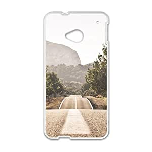 Long wide road lovely phone case for HTC One M7