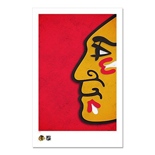 Chicago Blackhawks - Minimalist NHL Logo Art Poster Print (11X17 Inches)