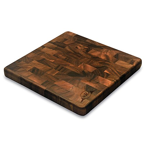 (Western Scroll Personalized Square End Graing Cutting Board | BBQ Fans)