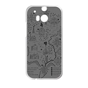 HTC One M8 Cell Phone Case White WELCOME TO CARCOSA Poygy