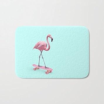 Funny Flamingo Innen Fussmatte Badteppich Rutschfeste Boden Teppich