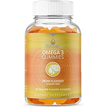Omega 3 Gummies Vitamins for Kids & Adults - Better Than Fish Oil, Made with Ala & Flaxseed. All-Natural Supplements, Sugar-Free, Kosher & Halal Certified ...