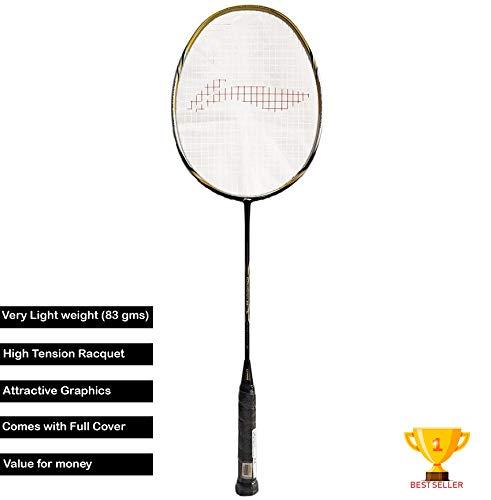 Li Ning Super SS Series G4+ Carbon Graphite Lightweight Strung Badminton Racquet, S2