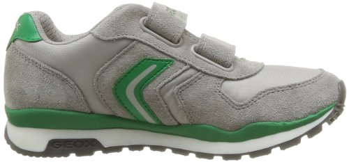 Geox J Pavel A - Zapatillas de cuero para niño Gris / Verde (Grey/Green)