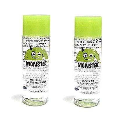 Etude House Monster Micellar Cleansing Water (25ml 0.84 fl.oz) Travel Size (25ml x 2pcs)