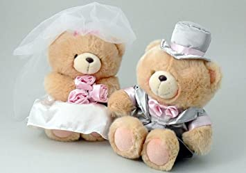 Forever Friends - Pareja de novios ositos boda forever friends 22cm