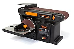 Wen 6502 4 X 36-inch Belt & 6-inch Disc Sander With Cast Iron Base