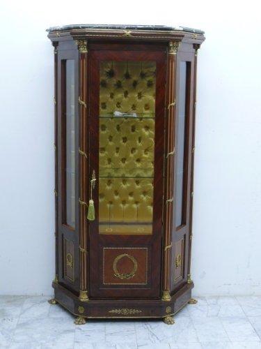 Barock Vitrine klein Schrank schmal Antik Stil MoVi0471