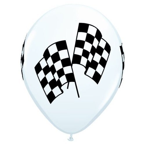 Balloons Racing (Latex Balloons - Racing Flags - Package of 10)