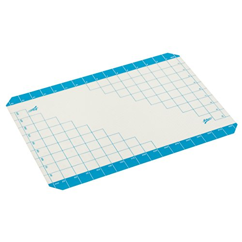 Mat Fondant Work - Ateco 695 Nonstick Work Mat With Measurements and Baking Sheet Liner, Silicone
