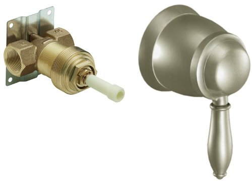Volume Valve 3/4 Control Exacttemp (Moen TS52104BN-S3600 Weymouth ExactTemp Volume Control Trim Kit with Valve, Brushed Nickel)