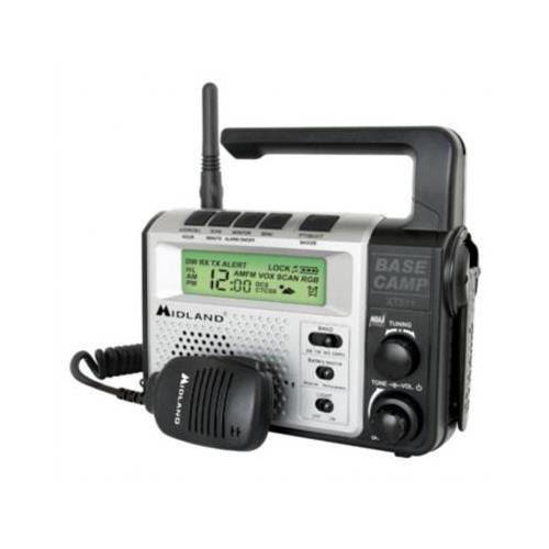 Midland XT511 Base Camp 2-way Radio - EMERGENCY CRANK RADIO - 7 GMRS/FRS, 7 FRS, 8 GMRS - 26Mile