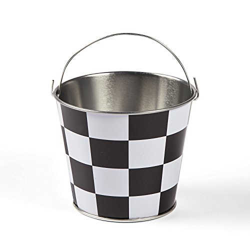 Mini Checkered Pails - 12 ct ()