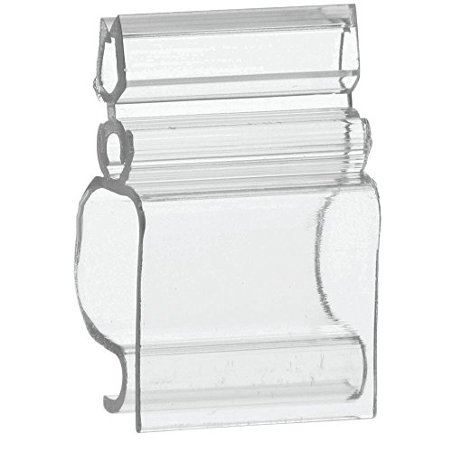 Adjustable Angle Sign Holder, Clear Plastic - 1'' L- 25 per Bag by Hubert