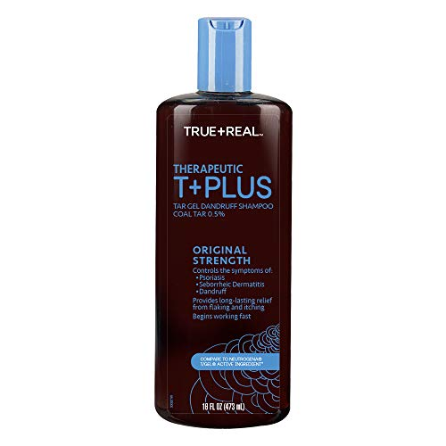 True+real Therapeutic Plus Tar Gel Dandruff Shampoo, 16 Fluid Ounce