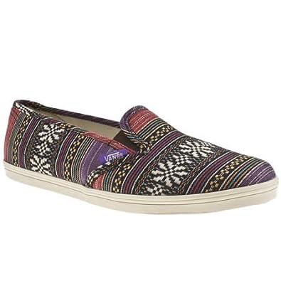 887b2d5a219265 Vans Slip On Lo Pro Guate Stripe - 4 Uk - Purple - Fabric  Amazon.co ...