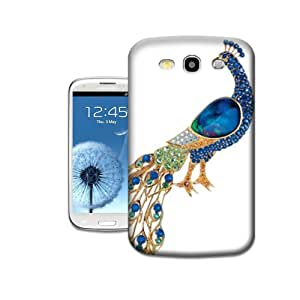 Lavender's shop Beauty Peacock Crystal Brooch TPU Hard Phone Shell Cases For Samsung Galaxy S3