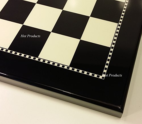 15 Inch High Gloss Black and White Chess ()