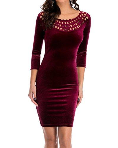 YaoDgFa Damen Elegant Vintage 1950er Kleider Abendkleid ...