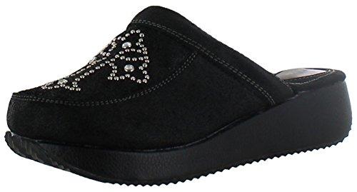 Volatile Notting Hill Women's Embellishment Clogs Black Size 9
