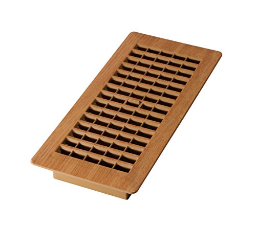 Decor Grates PL410-OC 4-Inch by 10-Inch Plastic Floor Register, Oak (Caramel Floor)