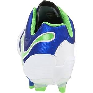 Puma Women's Powercat 2.12 FG Winners Soccer Shoe,White/Puma Royal/Green Flash,6 B US
