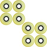 Aggressive Inline Skate Wheels Blank Natural 62mm 95a 8 Pack