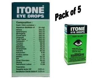 ITONE 5 X Ayurvedic Herbal Eye Drops Natural Allergies 10ml by ITONE